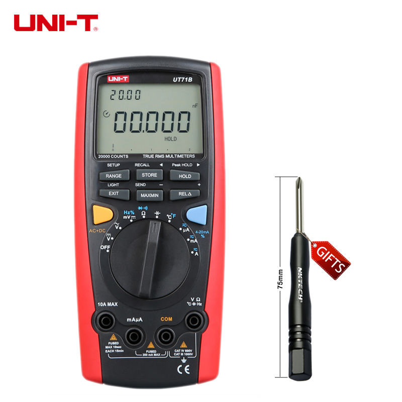 UNI-T UT71B Intelligent Digital Multimeter Tester USB to PC True RMS LCR AC DC by Smart Meter Be the first to review this item цена