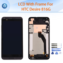 5.5″ LCD with frame for HTC Desire 816G 816H LCD display touch screen digitizer glass bezel full assembly pantalla repair tools