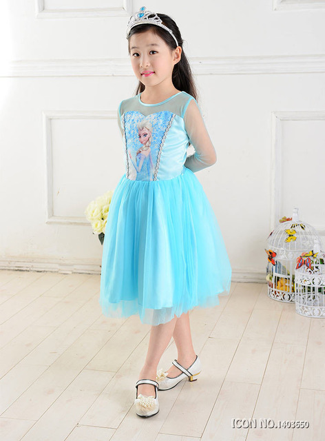 2018New Summer dress anna elsa disfraz princess sofia dress infantil fever elza costume vestido rapunzel jurk disfraces Clothing 1
