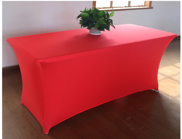 90inch Rectangle Bar Table Covers Spandex Lycra Cocktail Table Covers Hotel  Party Wedding Decoration Stretch TableCloth