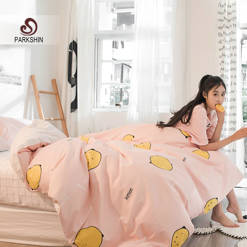 Nordic Lemon Pink Bedspread Comforter