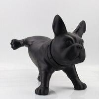 Фигуры животных украшения дома Черный и белый цвета полиэтиленовой бык собака украшения свадебного подарка творческие моделирование Peeing с