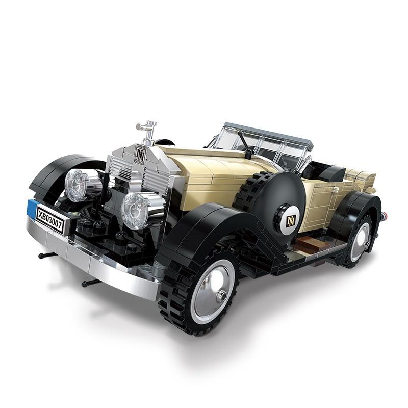 810Pcs Noble Car DIY Small Particle Car Series Plastic Building Block Model Set