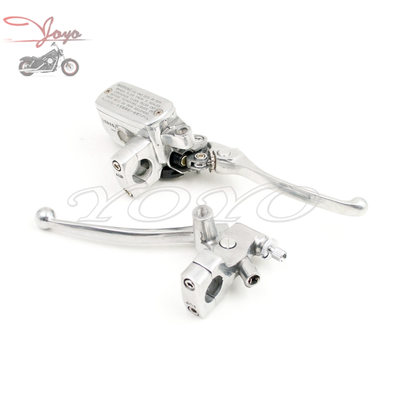 Motorcycle 1 Polishing Clutch Perch Brake Master Cylinder For Honda Steed Shadow Magna 400 600 750 Single Disc цена