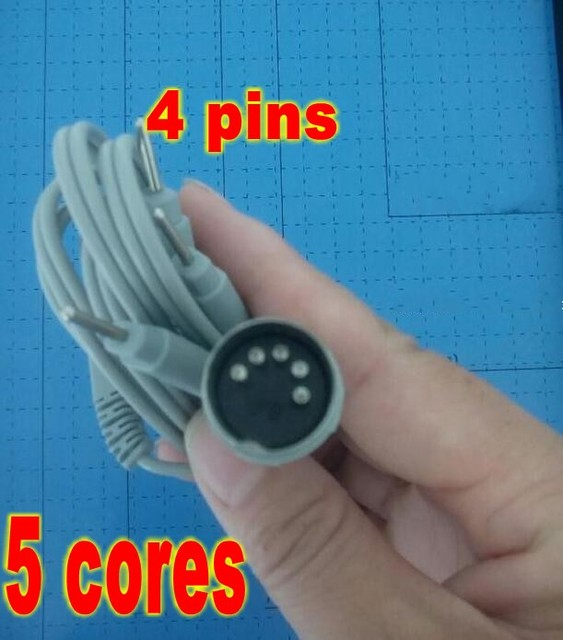 5pcs Electrode Lead Wires D5P Plug 4 Pin Connection Cables for ...