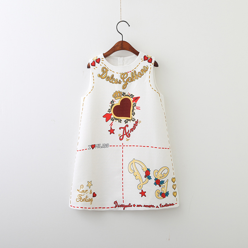 HTB18h4NXi6guuRjy0Fmq6y0DXXa2 Girls Dress Spring Autumn European and American Style embroidery Flower vest dress toddler Baby Girls clothing 2-8Yrs