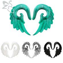 Акриловые затычки для ушей туннели Крыло ангела спиральный пирсинг