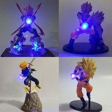 Figurines Dragon Ball Z végéta Goku Gohan père fils, figurines Dragon Ball, Super Saiyan Vegeta Goku, jouet cadeau pour enfants, lumière Led