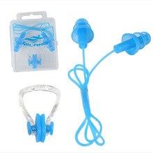 1 комплект водонепроницаемый зажим для носа+ удлиненная затычка для ушей защита для плавания и водных видов спорта