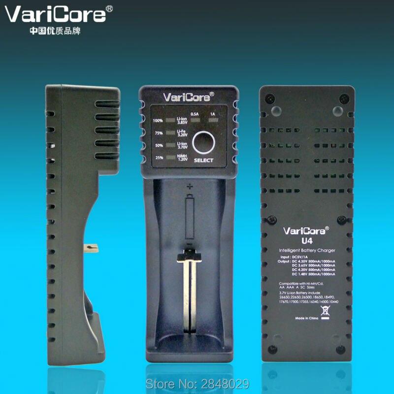 2 ШТ.. новый VariCore U4 18650 18350 26650 10440 14500 16340 25500 Литий nimh аккумулятор 1.2 3.7 3.2 3.85 AA/AAA аккумулятор smart заряда