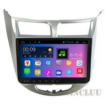 10.1 pulgadas Android 4.4 dvd Del Coche para Hyundai Solaris 2010 2011 2012-2016 navegación GPS headunit radio de Coche Ruso mapa de menús