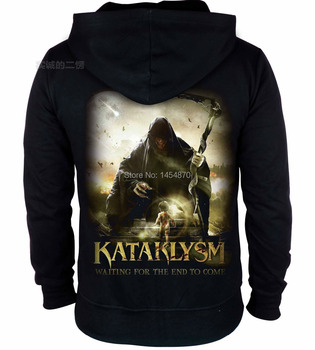 7 kinds wizard Master Kataklysm Rock Cotton Hoodies clothing punk zipper Sweatshirt  fleece death dark metal tracksuit