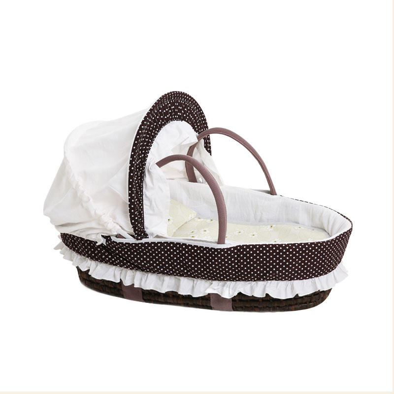 Hand Knitting Baby Portable Bed Crib Multi-function Soft Breathable Outdoor Travel Cars Baby Cradle Bed Protector For Kids