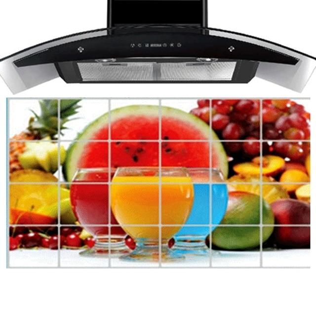 90 Cm * 60 Cm Watermelon Kitchen Wall Stickers Accessories Chef Kitchen  Decor Aluminum Foil Wall