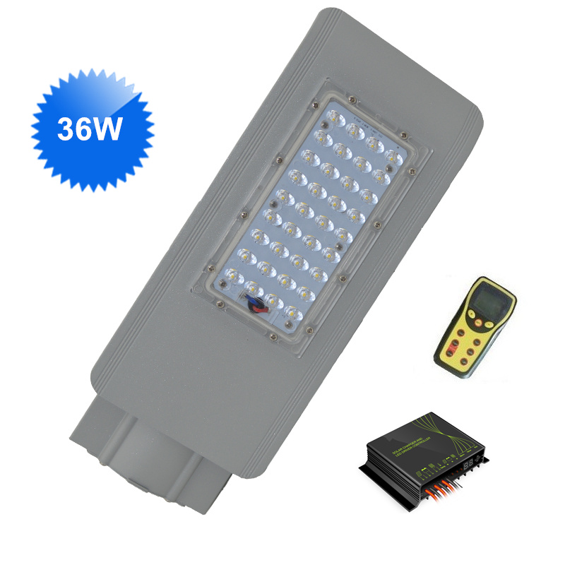 36W led street lights 12V DC with Intelligent Wireless Dimming solar controller IP65 for solar energy street lighting system marina yachting юбка до колена