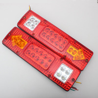 Newest 19 Led Truck Tail Light 12V 24V Car Led Taillight Left And Right Van Lamp