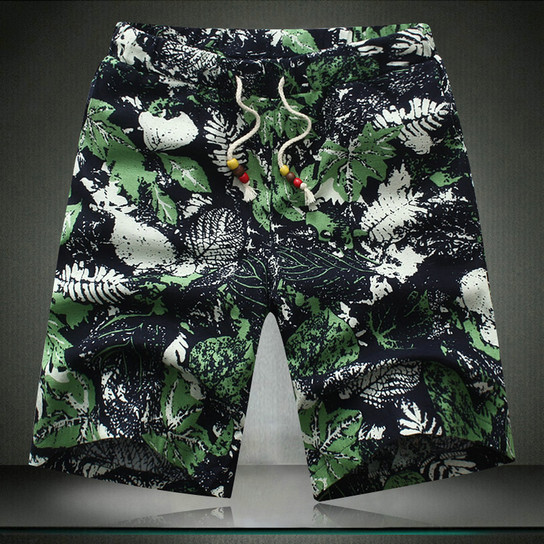Shorts with Colorful Print