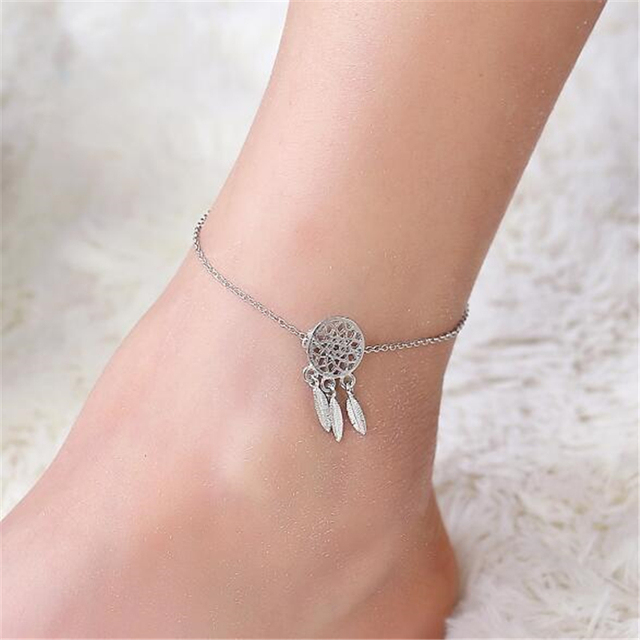feather scovel florence anklet collections products anklets silver