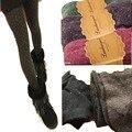 Meias Quentes de inverno de Lã Cashmere Fina Meias Mulheres Meninas Moda Dot Meia-calça Meias de Inverno Transporte Rápido