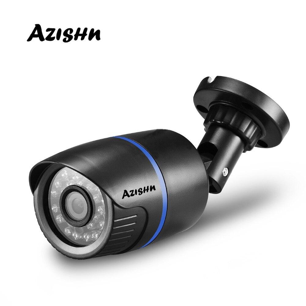 AZISHN H.264 FULL HD 1080 P de 2,0 megapíxeles cámara de seguridad IP de HI3518E 24IR LED ABS de plástico al aire libre cámara IP 1080 P DC 12 V/48 V PoE