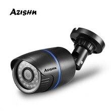 AZISHN cámara IP de seguridad H.265/H.264, FULL HD, 1080P, 2,0 megapíxeles, 24IR LED, cámara de plástico ABS para exteriores, IP 1080P DC 12V/48V PoE