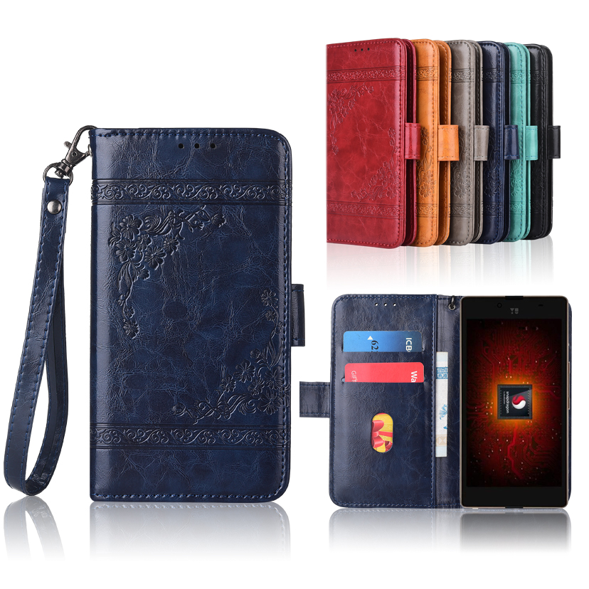 Wallet Case For Micromax Yu Yuphoria Plus Flip With Strap100% Special Pu Leather Embossing Flower Case For Micromax Yu Yuphoria To Make One Feel At Ease And Energetic Phone Bags & Cases Wallet Cases