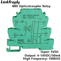 MRI 05D05 100KHZ PLC LED Optical Coupler Relay 5V DC 8mA Input Output 4 18VDC 50mA Interface Voltage Relay Module DIN Rail