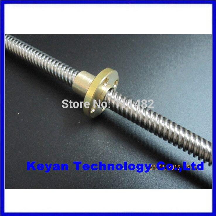 5sets/lot RepRap 3D Printer THSL-300-8D Lead Screw Dia 8MM Thread 8mm Length 300mm with Copper Nut