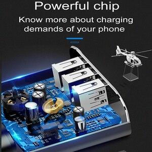 Image 3 - Baseus 3.4A Màn Hình Hiển Thị LED USB Sạc Điện Thoại Cho iPhone Samsung Di Động Sạc Tường 3 Cổng USB Sạc Cho Xiaomi OnePlus huawei