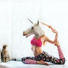 d95245adc67aef Colorful Yoga Pants Unicorn Printed High Waist Fitness Legging Women  Sportswear Pink Stripes Leggings Running Yoga