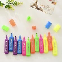 6 pcs/Lot Color Highlighter pen marker 1-5mm lighting liner Stationery Office School supplies resaltadores de oficina CB687
