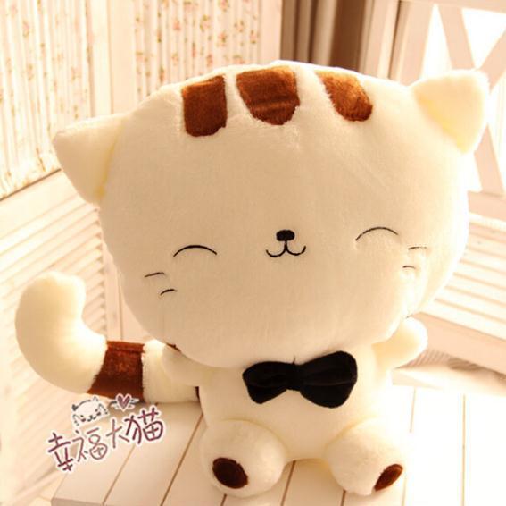 45 CM 1 UNIDS Grande Encantadora Cara Sonriente Gato de Peluche Juguetes de peluche Brinquedos Fábrica PT034 Más Bajo Precio Los Mejores Regalos para Los Niños de Alta Calidad