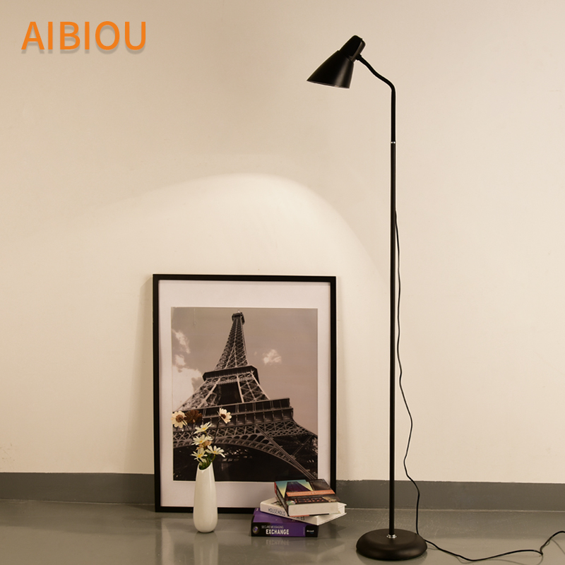 AIBIOU White LED Floor Lights For Living Room Adjustable Standing Lamp Black Floor Lamps Modern Reading Lighting Fixtures aibiou white led floor lights for living room adjustable standing lamp black floor lamps modern reading lighting fixtures