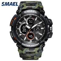 Relojes deportivos SMAEL 2018  reloj LED digital para hombres resistente al agua  reloj masculino  reloj masculino erkek kol saati 1708B relojes para hombres|Relojes deportivos|   -