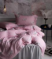 Винтажные розовый синий конь постельных принадлежностей для взрослых девочек twin Полный Королева Король ретро дизайн домашний текстиль пло