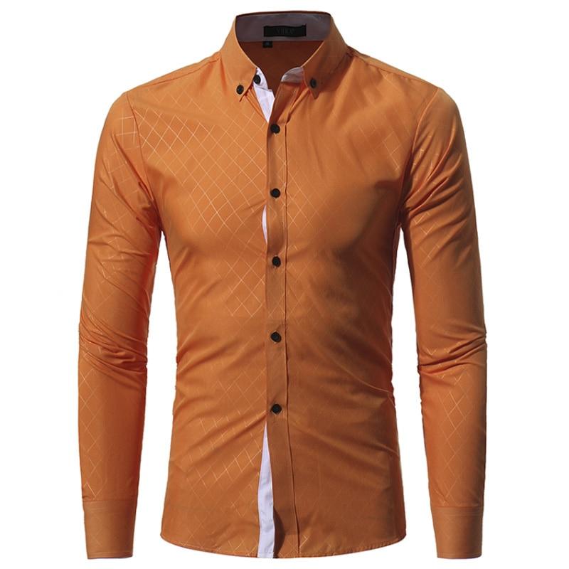 New Autumn Fashion Brand Men Clothes Slim Fit Men Long Sleeve Shirt Men Plaid Cotton Casual Men Shirt Social Plus Size M-3XL