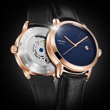 מכירה לוהטת גברים שעון מכאני Tourbillon יוקרה אופנה מותג עור איש ספורט שעונים Mens אוטומטי שעון Relogio Masculino