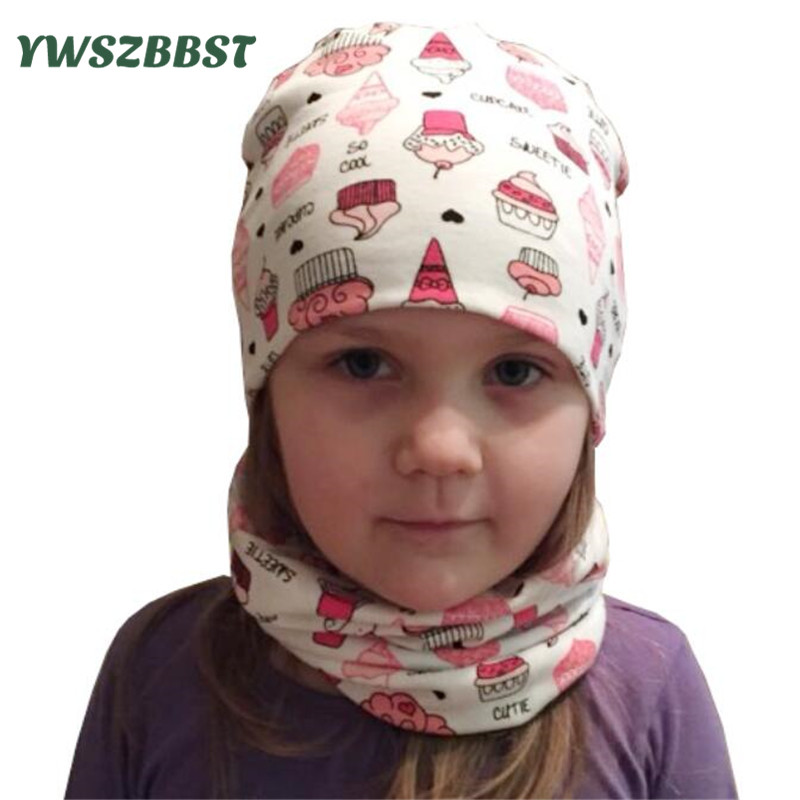 Cartoon Baby Hat Set Cotton Toddler Infant Caps Children Caps Scarf Collar Baby Caps for Boys Girls Wear In Spring Autumn Winter new spring summer kids fashion caps children boys girls casual cotton letter baseball caps adjustable hip hop snapback sun