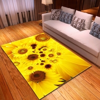 Large 3D Carpet Sun flower Rug Kids Room Play Mat Memory Foam Bedroom Area Rugs Carpets for Living Room Home Decorative Tapetes