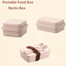 GZZT Lunch Box Food Container Portable Bamboo Fiber Bento Boxes Microwave Dinnerware Storage Lunchbox Healthy