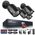 SANNCE Security Camera System 4ch CCTV System DVR DIY Kit 4 x 1080P Security Camera 2.0mp Camera Surveillance System