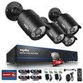 Sannce sistema de cámara de seguridad cctv sistema dvr kit de bricolaje 4x1080 p 2.0mp cámara cámara de seguridad del sistema de vigilancia