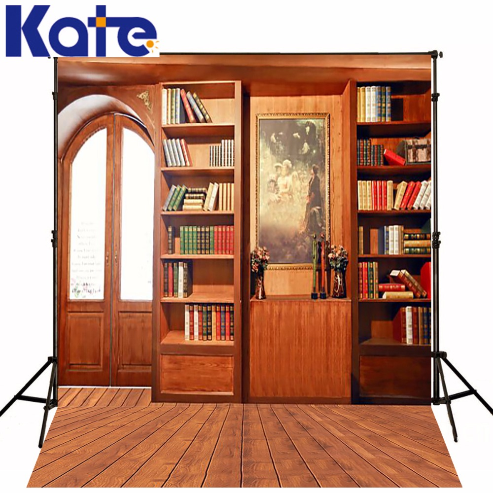 KATE Photography Backdrops Newborn Background Bookshelf Backdrop Children Room Background Wood Floor Backdrop for Photo Studio сумка kate spade new york wkru2816 kate spade hanna