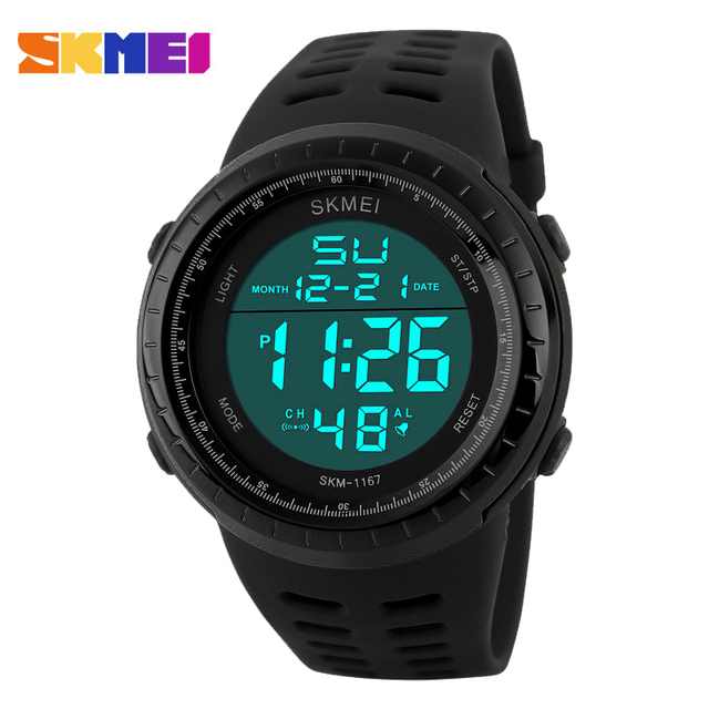 SKMEI Digital-watch Men Outdoor Military Army Chronograph Digital LED Watch Fashion Casual Men Sports Wristwatches Relogio Mascu