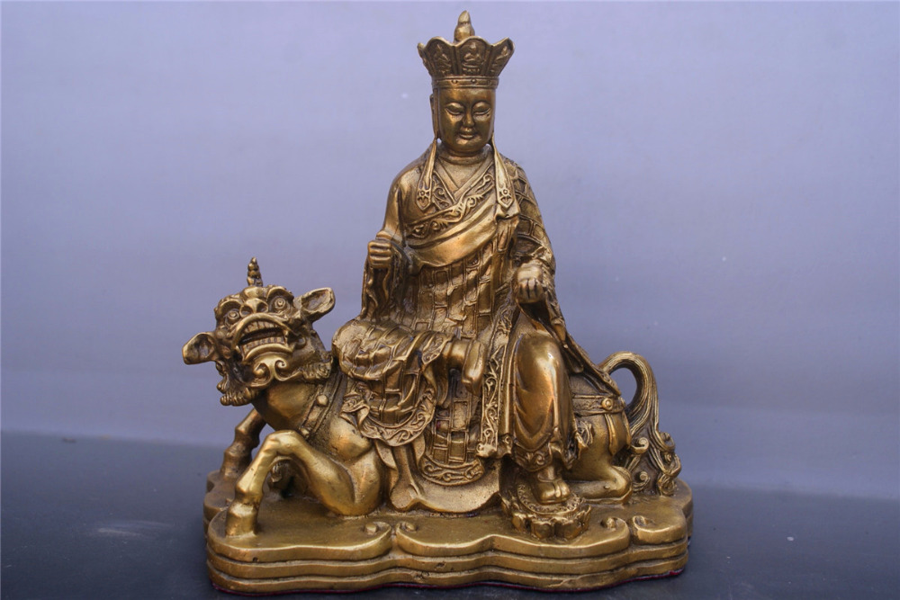 Chinese old bronzes Earth Store Bodhisattva copper StatueChinese old bronzes Earth Store Bodhisattva copper Statue