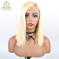 13x6 кружева фронтальной натуральные волосы парики Полный блондинка 613 Цвет бразильский парик 150% для женщин предварительно сорвал натуральн