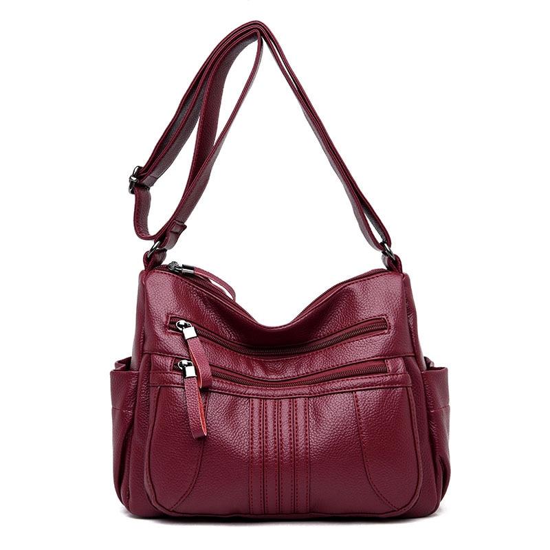 ea2a112bc7 Fashion Patchwork Women s Genuine Leather Handbags Cowhide Tassel Shoulder  CrossBody Bag Messenger Bags Hobos Women Bags Ladies