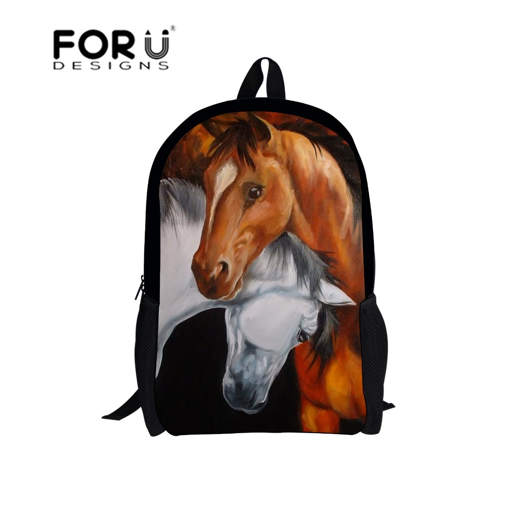 Horse printing backpack for school kids girls bookbags,2017 brands owl dolphin children backpacks teen mochila bagpack bag spain backpack kids children foot ball star backpacks for boys school bagpack girls youth rucksack student mochila bags