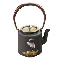1.4L Southern Japanese Cast Iron Tea Pot Hand-painted Crane Kettle Creative Drinkware