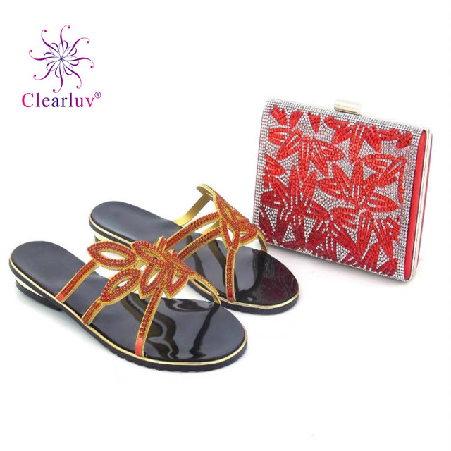 Clearluv Shoe and Bag Set African Sets 2017 Italian Shoes with Matching  Bags Set Decorated with ab36eac5772f